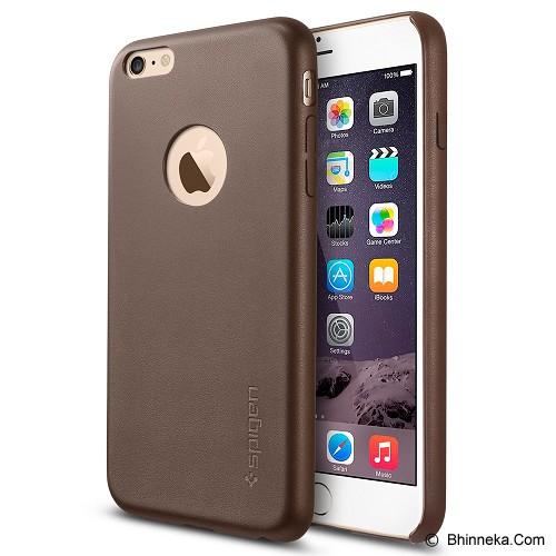 SPIGEN iPhone 6 (4.7 inch) Case Leather Fit Series [SGP11356] - Olive Brown - Casing Handphone / Case